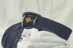 black belt and gi